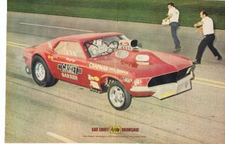 AHRA Drag Racing Ford Mustang Funny Car MALCO Gasser Ohio Geor