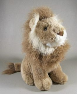 Male Lion Plush Stuffed Animal Sitting 10 Soft Toy