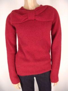 MALENE BIRGER New Bow Knit Sweater S Angora Lamb Wool Christmas