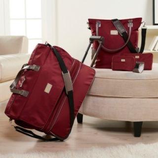 JOY MANGANO TravelEase Light Double Decker Wheeled Duffle Luggage w