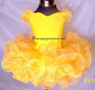 Mango and Yellow National Pageant Dress Shell