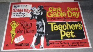 Poster Doris Day Mamie Van Doren Clark Gable RARE 30x40