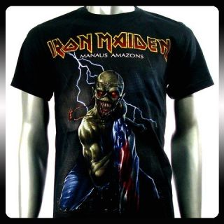 Iron Maiden Heavy Metal Rock Punk T shirt Sz XXL 2XL Biker Rider Men
