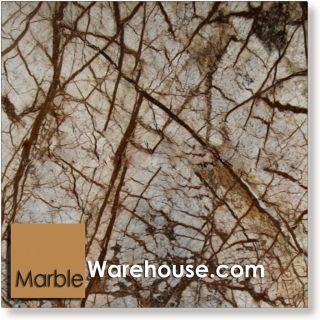 12x12 Rain Forest Brown Marble Tile Flooring