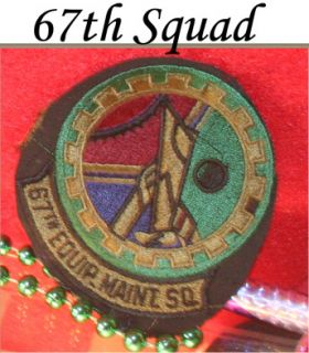 67th Equipment Aircraft Maintenance Squad Patch Air Force