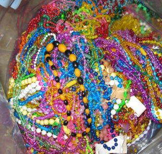 Mardi Gras Beads Lot of 12 Necklaces