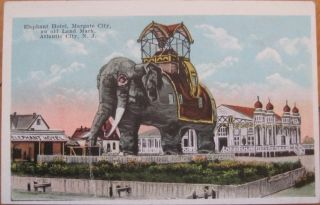 1920 PC Elephant Hotel Margate City Atlantic City NJ
