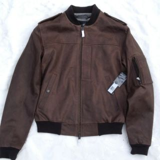 Marc Jacobs Brown Leather Aviator Jacket S