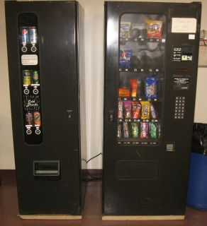Vending Machine Soda Cold Drinks and Snacks Combo