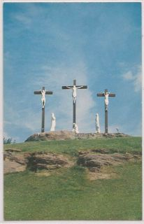 Manville RI Postcard Lady of Fatima Retreat House Calvary Hill View