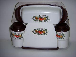 Sterilite Salt Pepper Napkin Holder w Butter Dish Unused 905