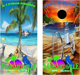 Margaritaville Cornhole Bag Toss Graphic Decal Wrap 48