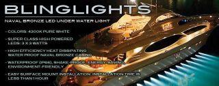 Underwater Boat Lights Dock Lamp Marine Under Water Aqua Light
