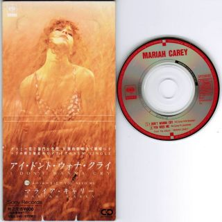 Mariah Carey I DonT Wanna Cry Japan 3 Snap Pack CD Single Unsnapped