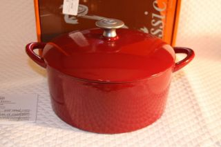 Mario Batali Classic by Dansk Enameled Cast Iron Covered Dutch Oven, 4