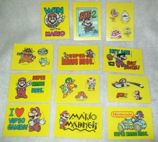 Vintage Topps Nintendo Super Mario Bros 2 Game Sticker Trading Card