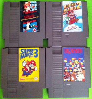 NES Super Mario Brothers 1 (with Duck Hunt), 2, 3, and Dr Mario Games