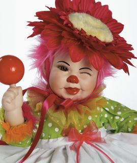 Marie Osmond CLOWNING AROUND Porcelain Baby Clown Doll by Karen Scott