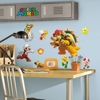 NEW 35 Nintendo Super Mario Bros Kids Wall Decals Stickers Decor
