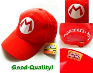 Brand New Super Mario Bros Anime Cosplay Red Mario M Cap Hat
