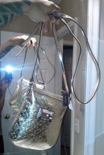 Guess Marciano Gold ess Mini Cross x Body Handbag Bag Purse Womens