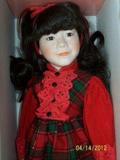 Marian Yu Oriental Girl Christmas Comes with Santa Doll