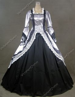 Marie Antoinette Victorian Dress Ball Gown Prom Wedding 164 L