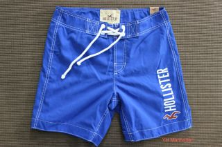 Hollister Men Blue Manhattan Beach Swim Board Shorts Swimwear
