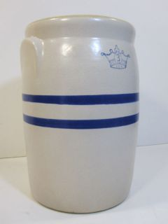 Cobalt Blue Crown Butter Churn Stoneware Umbrella Cane Holder