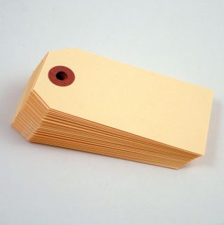 30 Manilla Blank Hang Tags 3 3/4 X 1 7/8 (95mm x 48mm) for Gifts