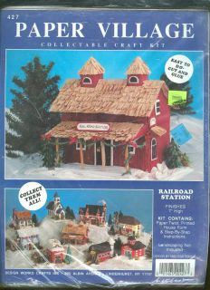 Paper Village Railroad Station Collectable Craft Kit Never Opened