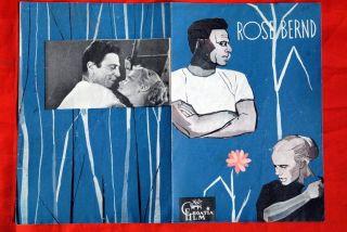 Rose Bernd German Maria Schell 1957 EXYU Movie Program