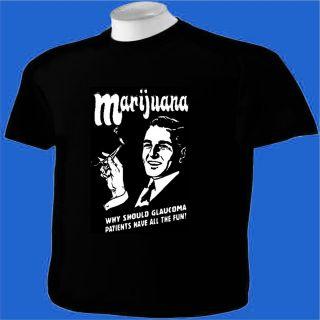 Shirt Marijuana Glaucoma MMJ Pot Weed Ganja Reefer Pipe Humor Funny
