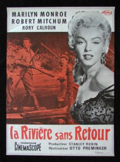 River of No Return French Movie Poster Marilyn Monroe
