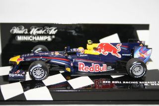 Diecast Minichamps Red Bull Racing RB6 F1 Car Mark Webber 2010
