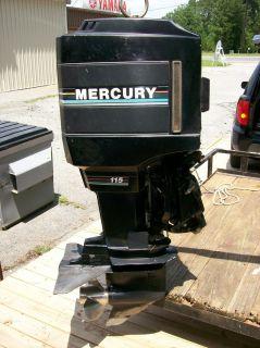 Mercury Marine Outboard Boat Motor Engine 115 HP 1990 2 Stroke Used