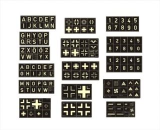 Model Works 1 32 WWII German Aircraft Markings Stencils AW014