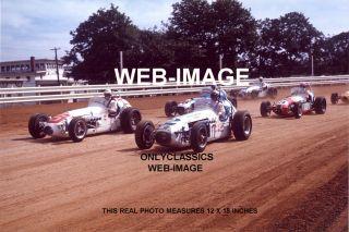 1968 Mario Andretti Al Unser Indiana State Fair Photo Auto Racing Indy