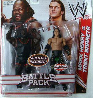 WWE Mattel Battle Pack Mark Henry and Trent Barreta RARE HTF NEW MOC