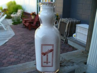 Marion Center Creamery Dairy Cream Top Red Ltrd Qt Milk Bottle Pa