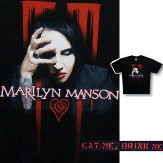 Marilyn Manson Peeking Eat Me Drink Me T Shirt 2XL New
