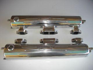 Vintage Edelbrock Marine exhaust manifolds sbc small Chevrolet v drive