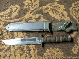VINTAGE FIGHTING KNIFE/U.S.N.MARK 2/CAMILLUS,N.Y./CAMILLUS MILITARY