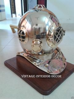 Mark V Decorative Vintage Under Water Navy Diving Helmet