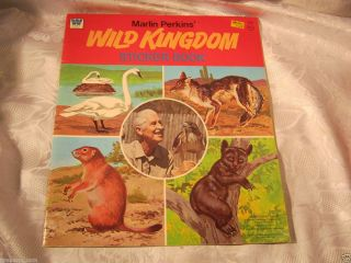 Mutual of Omaha Wild Kingdom Marlin Perkins Whitman Sticker Book Toy