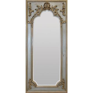 Mirror French Inspired Smoke Silver Ice Finish Martelle Over 6