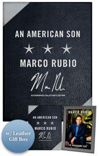 Marco Rubio Signed Book An American Son  A Memoir 1st Edition w/ Gift