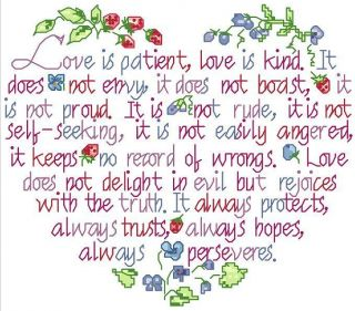 Wedding Marriage Anniversary Love Counted Cross Stitch Pattern 4