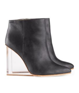 Maison Martin Margiela H M Shoes Ankle Boots Black Invisible Wedge 7