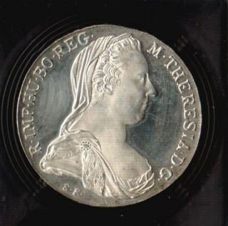 Austria Maria Theresa Silver Thaler 1780 SF Proof Coin